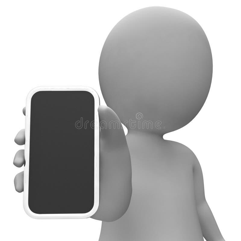 Smartphone Copyspace wijst op World Wide Web en het Lege 3d Teruggeven vector illustratie