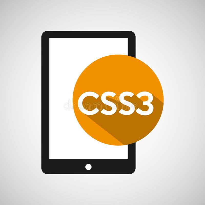 Smartphone css3 do desenvolvimento da Web ilustração stock