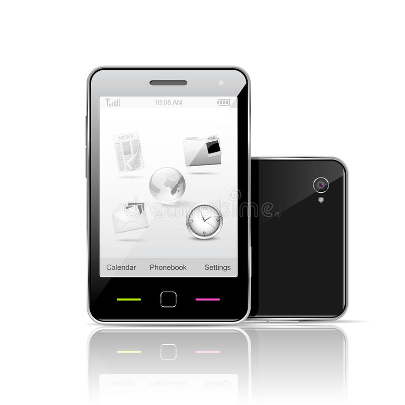 Smartphone d'écran tactile illustration stock