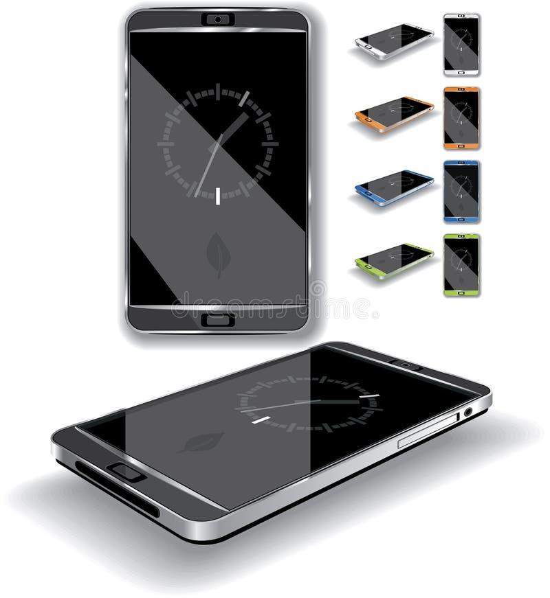 Smartphone 3D vektor illustrationer