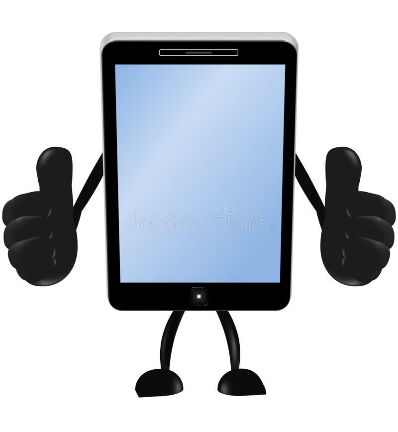 Smartphone 3d manie maladroitement  illustration stock