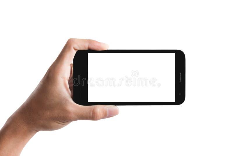 Smartphone da terra arrendada da mão imagem de stock royalty free