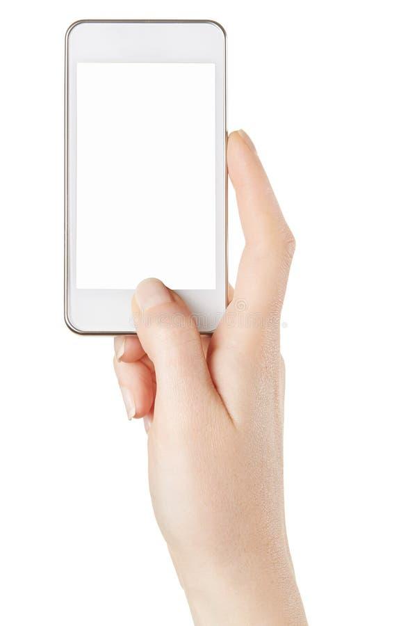 Smartphone dans la main femelle prenant la photo photos libres de droits
