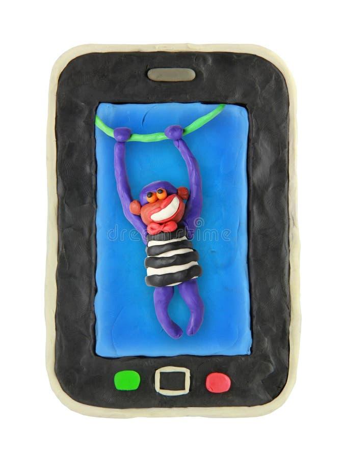 Download Smartphone Dos Desenhos Animados Do Plasticine Ilustração Stock - Ilustração de contemporary, preto: 29826104