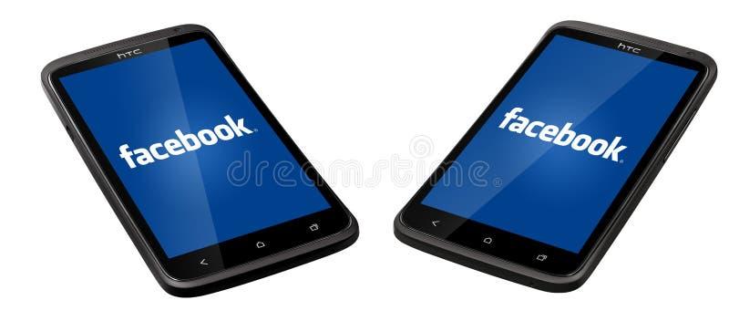 Smartphone de Facebook fotografia de stock royalty free