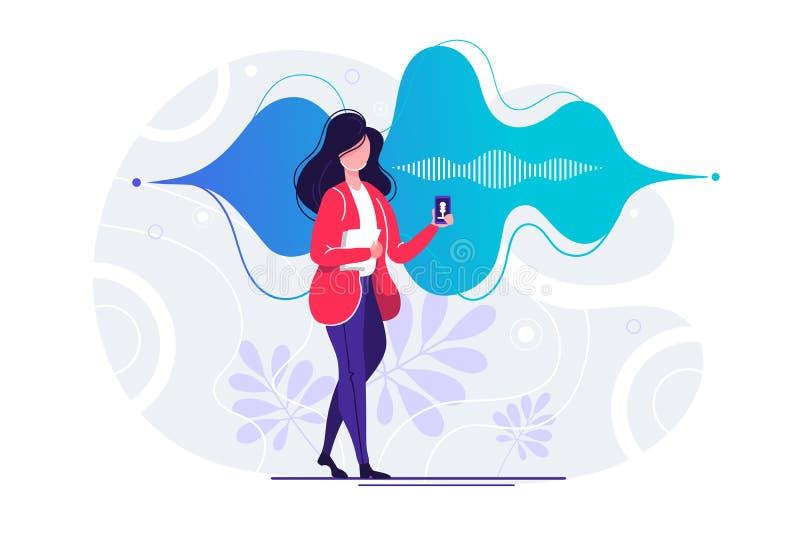 Smartphone de la muchacha de oficina libre illustration