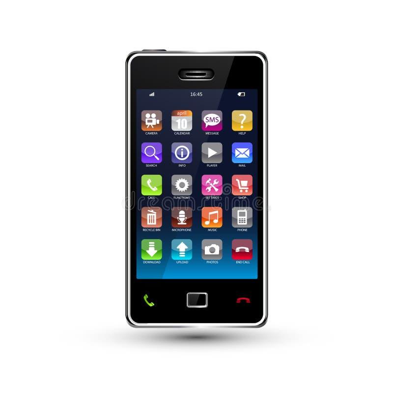 Smartphone de la pantalla táctil stock de ilustración