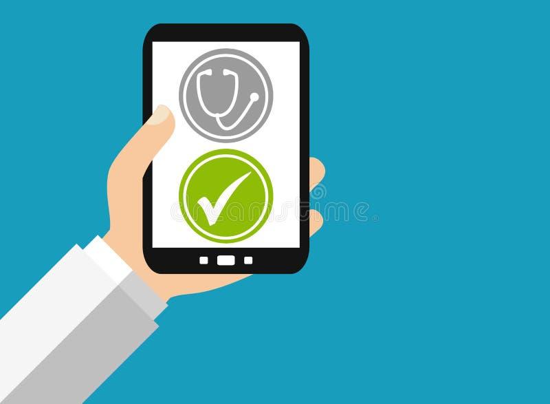 Smartphone: De medische Diensten - Vlak Ontwerp vector illustratie