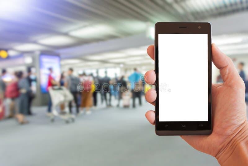 Smartphone de prise de main image stock