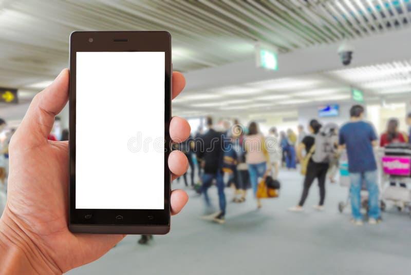 Smartphone de prise de main photographie stock libre de droits