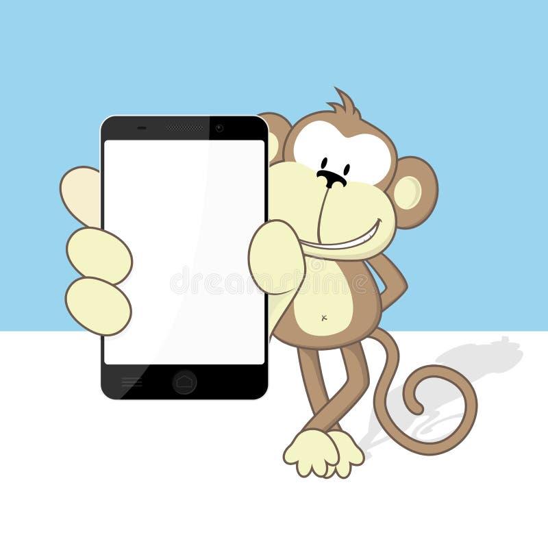 Smartphone de singe illustration stock