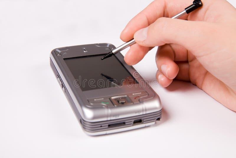 Smartphone del GPS foto de archivo