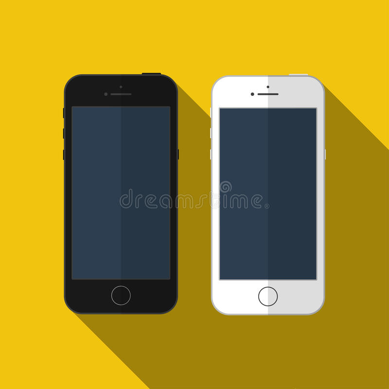 Smartphone del vector similar al iphone, maqueta stock de ilustración