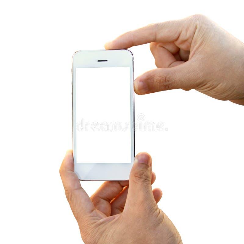 Smartphone in den Händen stockfotos