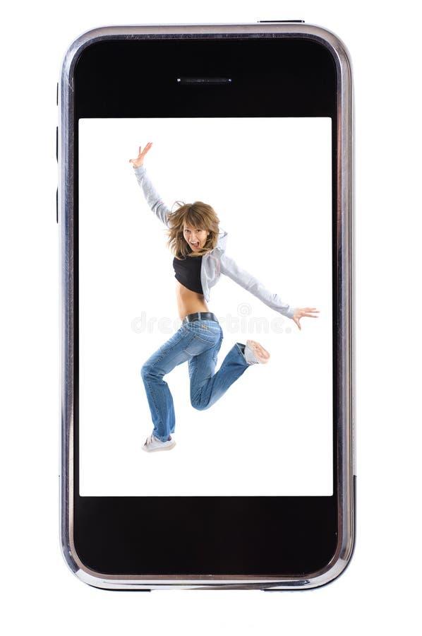 Smartphone di ballo fotografia stock
