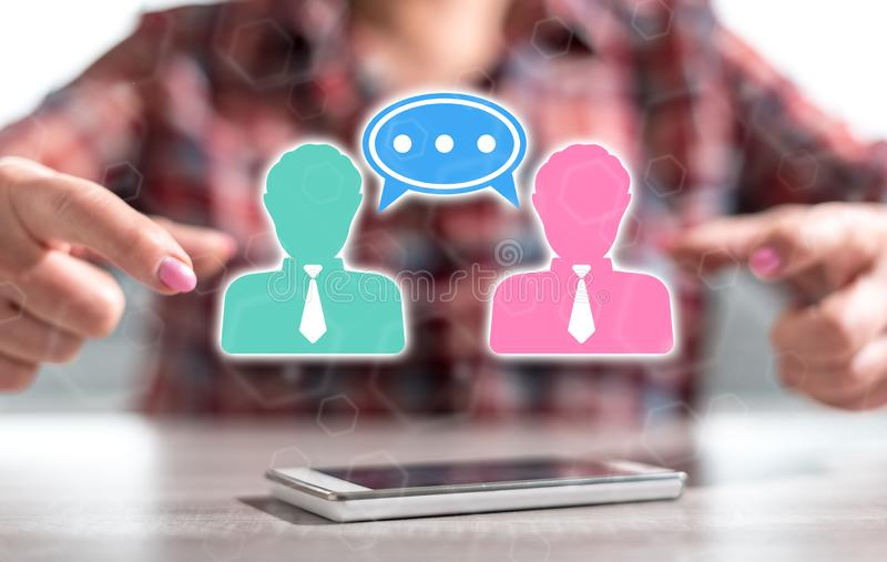 Concept of dialogue stock image