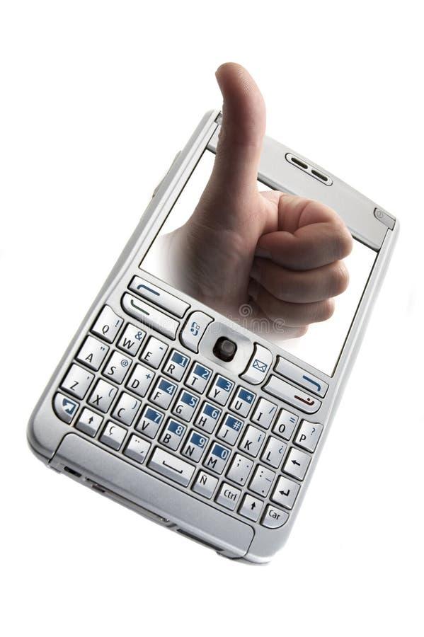Smartphone die op wit wordt geïsoleerd¯ stock afbeeldingen