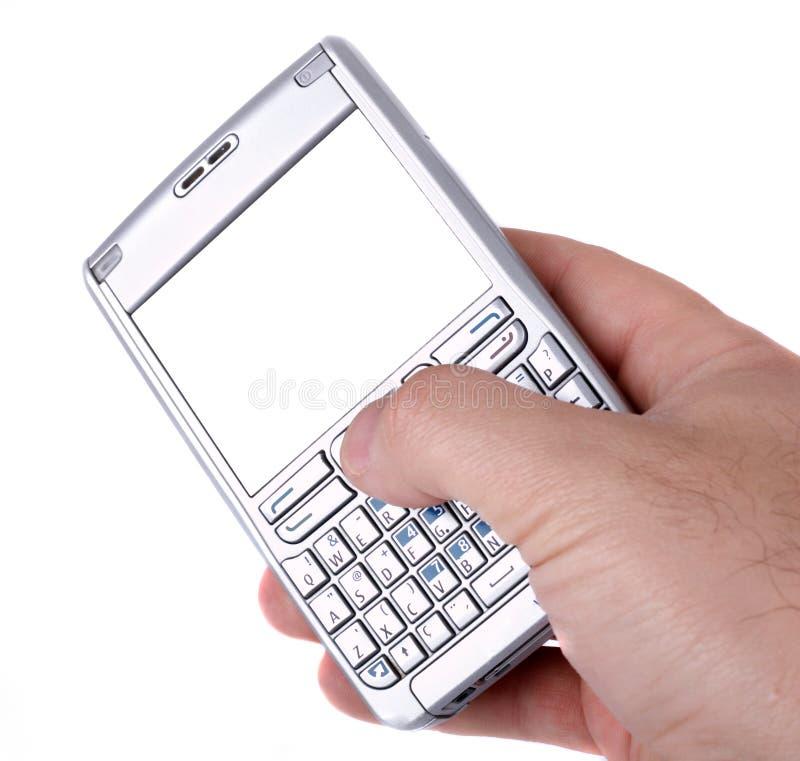 Smartphone die op wit wordt geïsoleerdl royalty-vrije stock fotografie