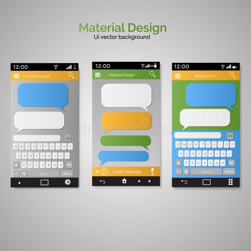 Smartphone die sms de bellen van de berichtentoespraak babbelen Smartphone-sleutel stock illustratie