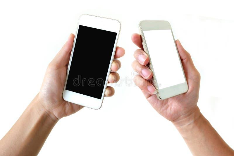 Smartphone a disposición imagen de archivo libre de regalías
