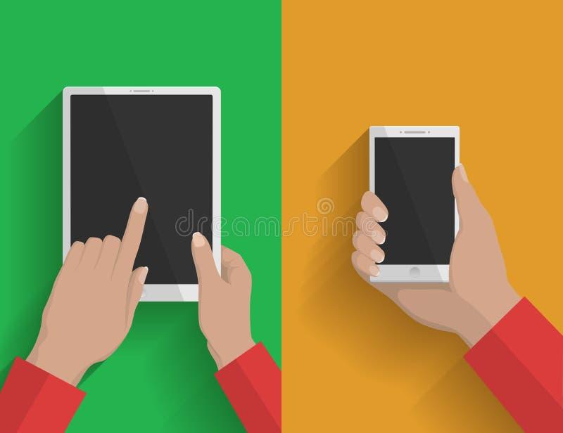 Smartphone e ilustração 2 do tabuleta-PC ilustração royalty free