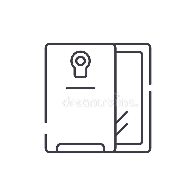 Smartphone e linha conceito do caso do ícone Smartphone e ilustração linear do vetor do caso, símbolo, sinal ilustração stock
