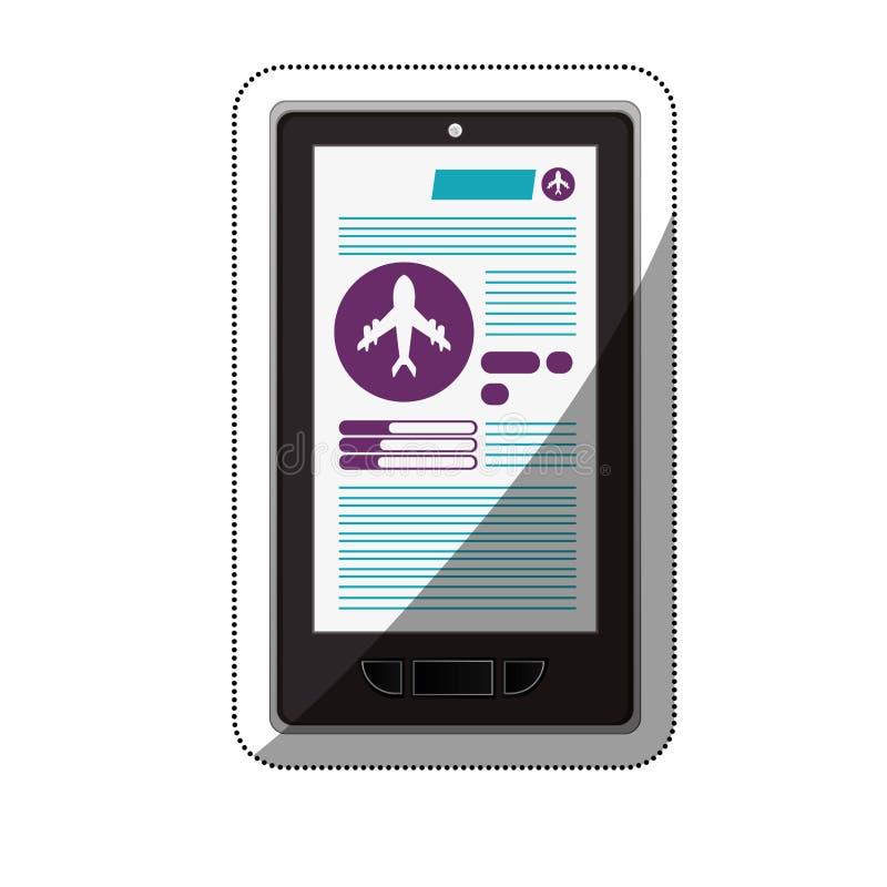 Smartphone e progettazione di commercio elettronico di viaggio illustrazione di stock