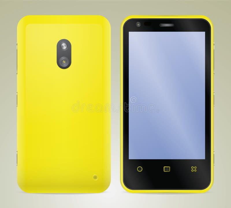Smartphone, ejemplo realista del vector foto de archivo