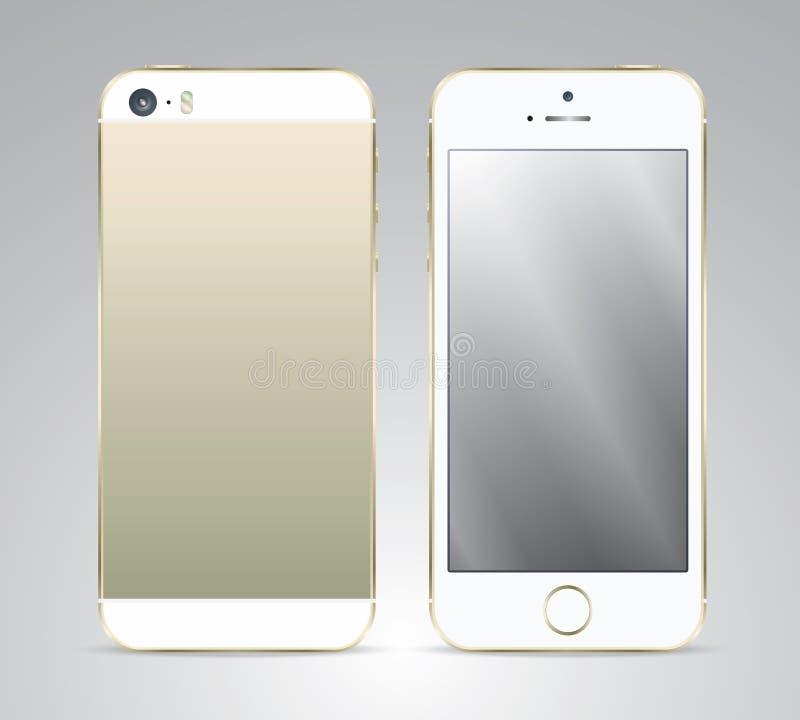 Smartphone, ejemplo realista del vector imagenes de archivo