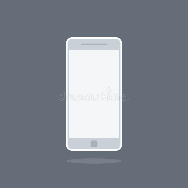 Smartphone eller mobiltelefonsymbol, royaltyfri illustrationer