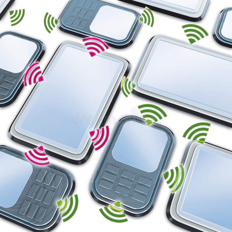 Smartphone en de tablet van aanslutingen vector illustratie