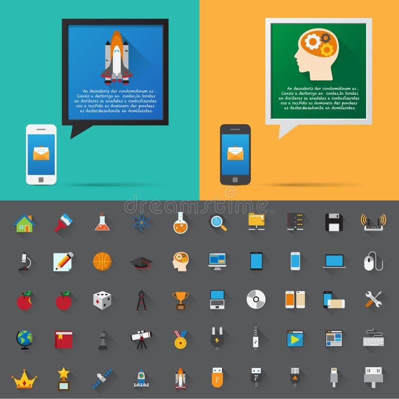 Smartphone en het bericht van de bellenbespreking. stock illustratie