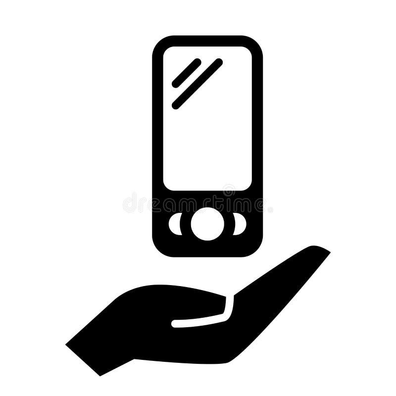 Smartphone en la mano stock de ilustración
