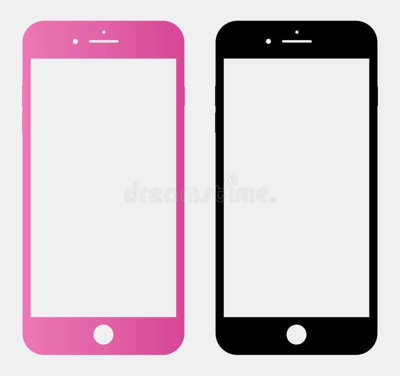Smartphone en un fondo aislado transparente stock de ilustración