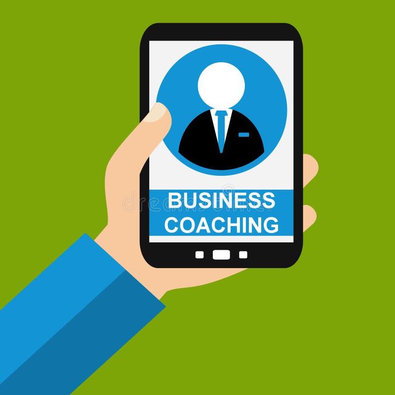 Smartphone : Entraînement d'affaires - conception plate illustration de vecteur