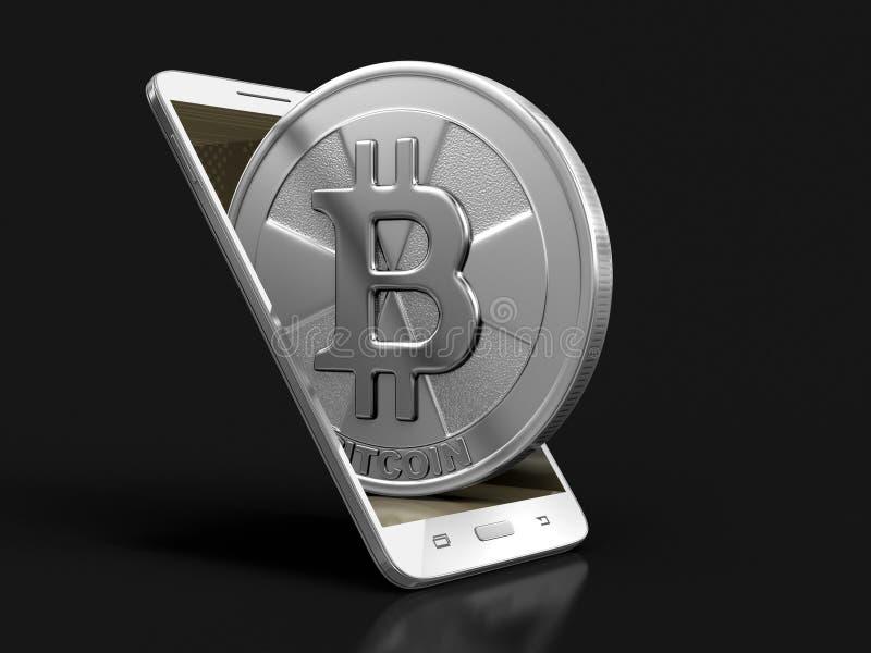 Smartphone et Bitcoin illustration libre de droits