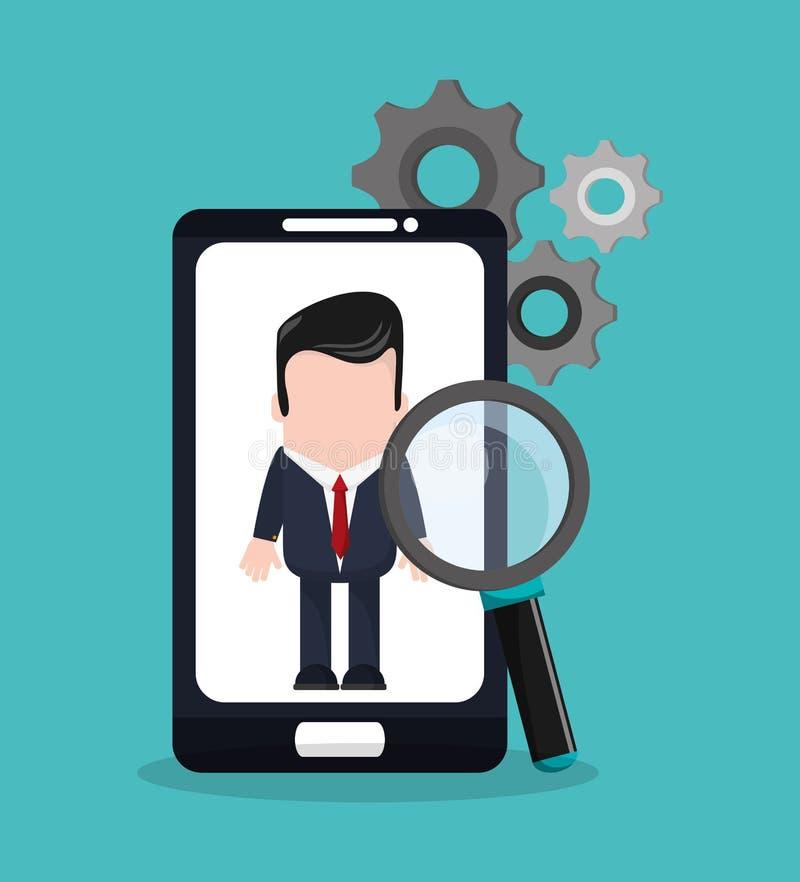 Smartphone et conception numérique de vente illustration libre de droits