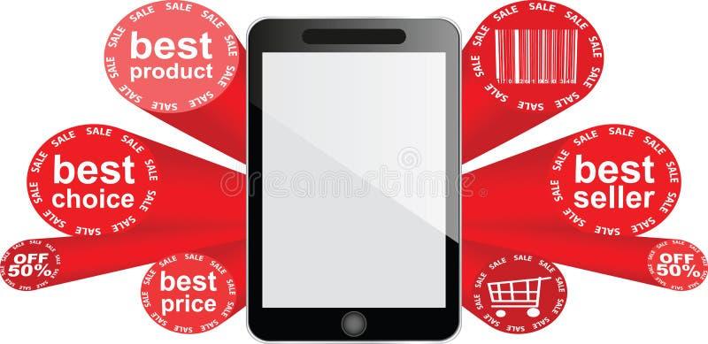Smartphone - fünfzig-Prozent-Rabatt lizenzfreie abbildung