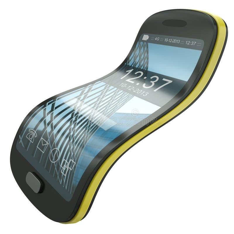 Smartphone flexible illustration stock