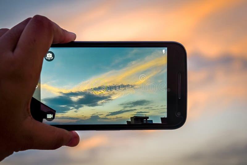 Smartphone-Fotografie lizenzfreies stockbild