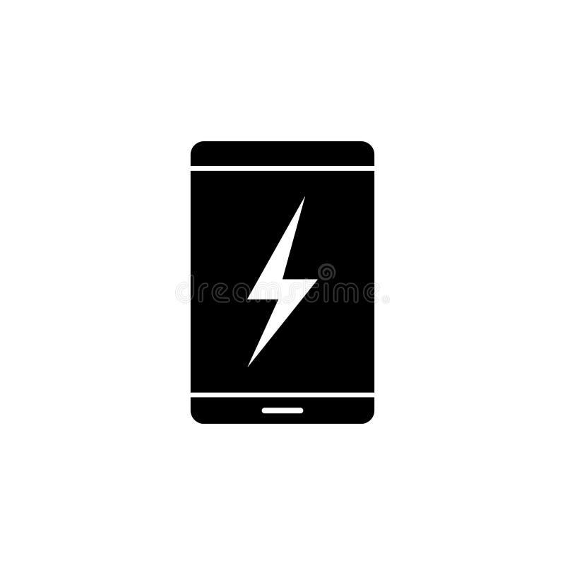 Smartphone, foudre, icône d'énergie sur le fond blanc Peut être employé pour le Web, logo, l'appli mobile, UI UX illustration stock