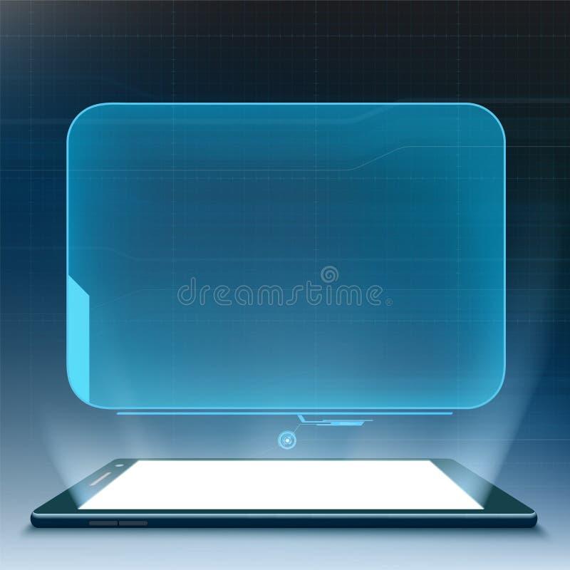Smartphone futurista con la interfaz de usuario de HUD libre illustration