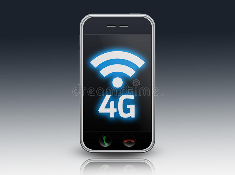 Smartphone 4G stock de ilustración