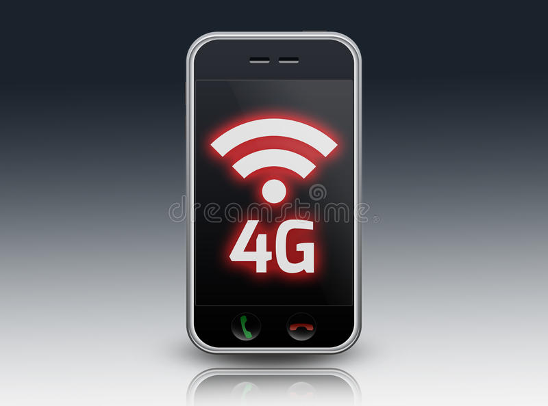Smartphone 4G LTE stock illustration