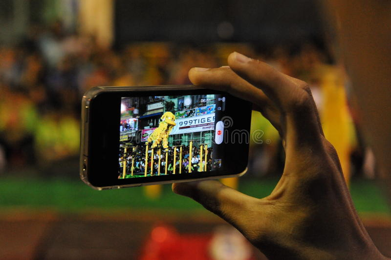 Smartphone-Gebruiker royalty-vrije stock foto