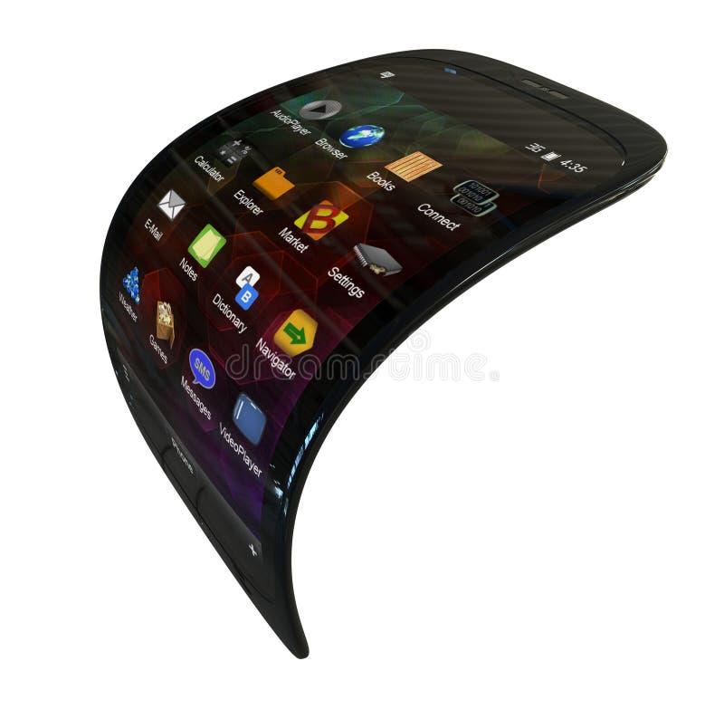 Smartphone genérico flexível ilustração royalty free