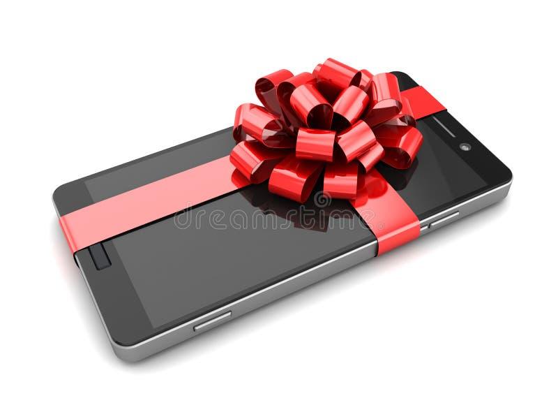 Smartphone-Geschenk lizenzfreie abbildung