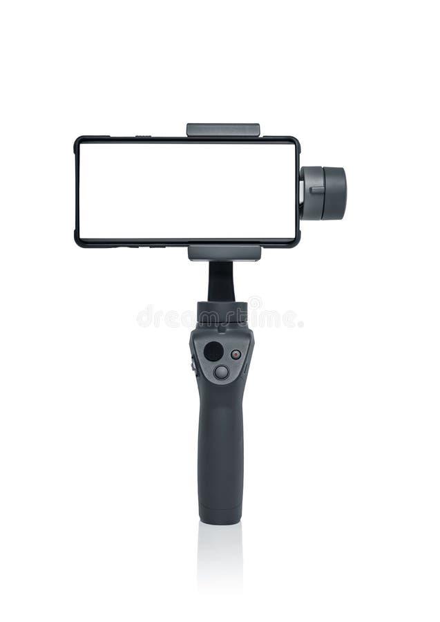 Smartphone gimbal stabilizator zdjęcia stock