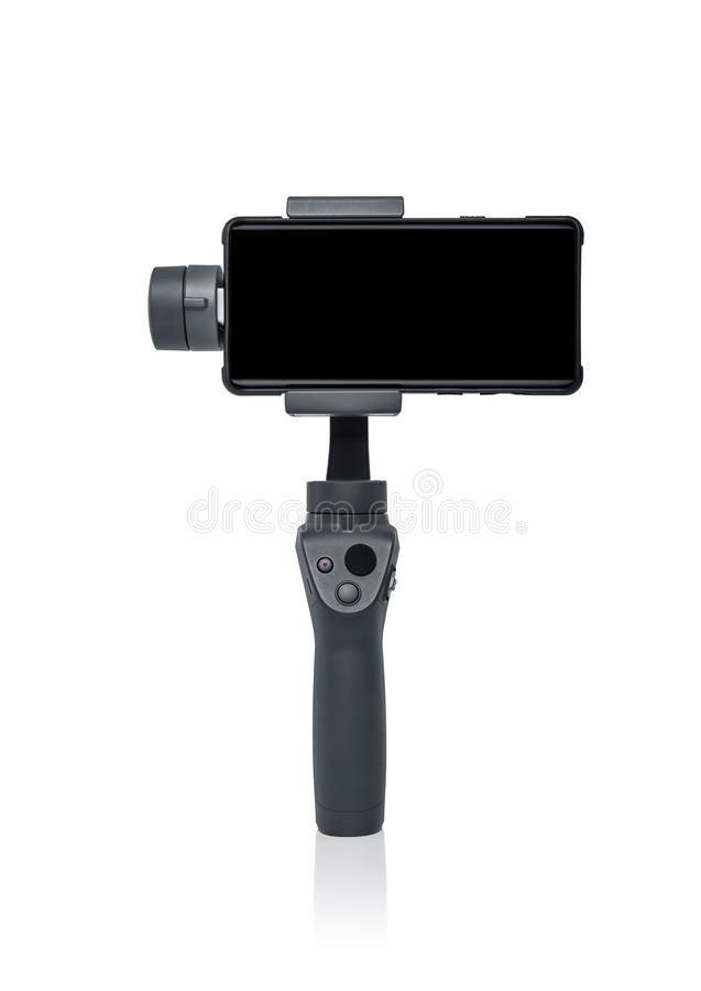 Smartphone gimbal stabilizator zdjęcie royalty free