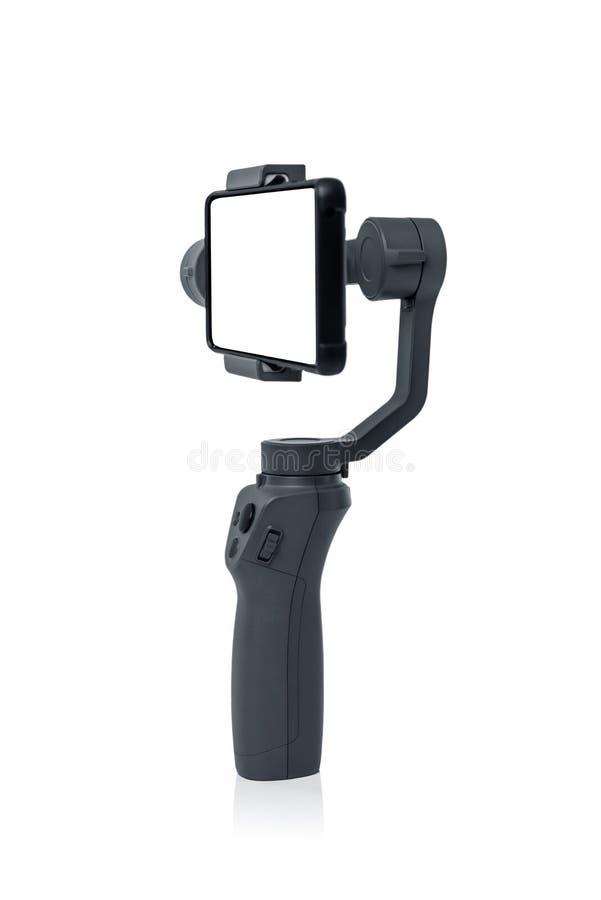 Smartphone gimbal stabilizator fotografia royalty free
